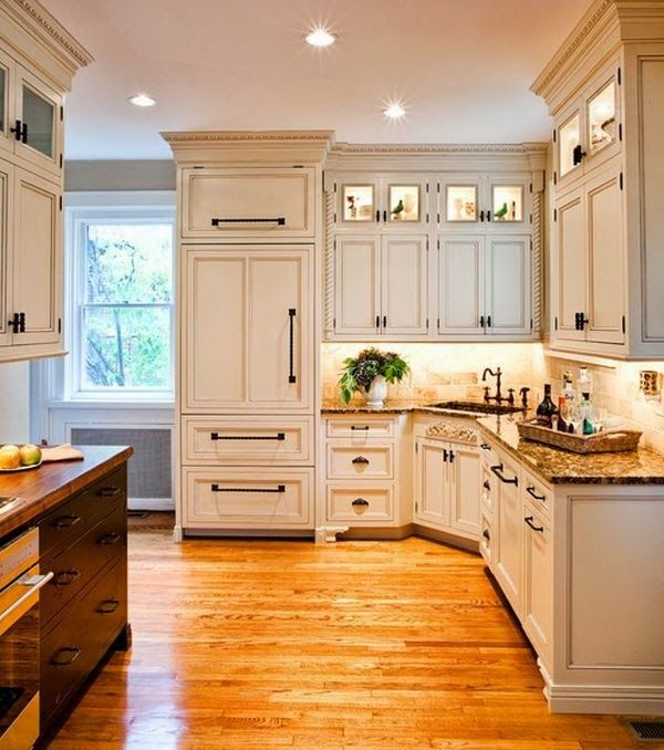 White cabinets and door pulls