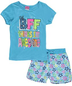 "Angel+Face+Big+Girls'+""Awesome+BFF""+2-Piece+Pajamas+(Sizes+7+–+16)+$7.99"