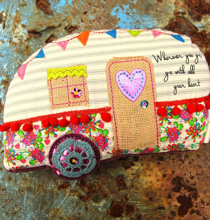 wherever you go, go with all your heart. AIRStream CAMPER pillow. {junk gypsy co} #glamping #camping #airstream