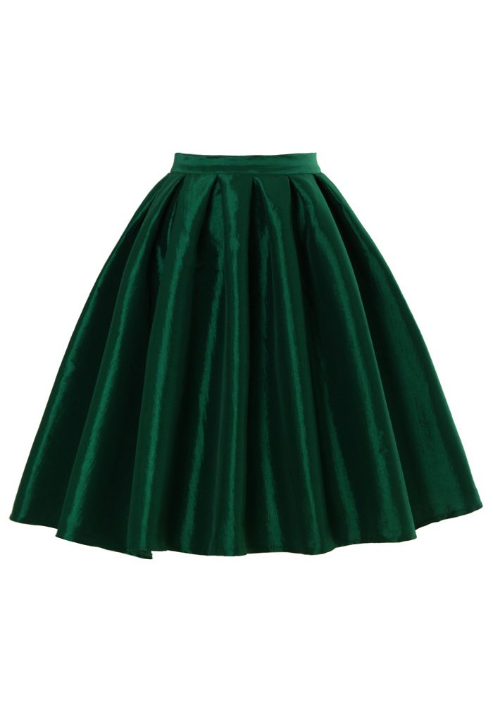 green full skirt