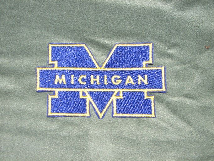 U of M Michigan Michigan University Iron on No Sew Embroidered Patch Applique by ThisandThatPark on Etsy https://www.etsy.com/listing/248461871/u-of-m-michigan-michigan-university-iron