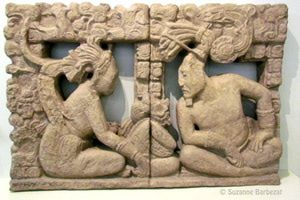 Maya civilization and culture from ancient times to the present day: A Mayan sculpture