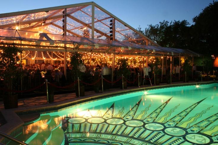 pool decorations can lights wedding lighting tuscany italy wedding ...