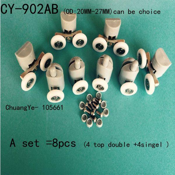 8 Shower Door Rollers/Wheels/Runners/Pulleys CY-902AB