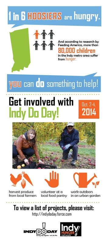 Infographic for Indy Hunger Network + Indy Do Day!