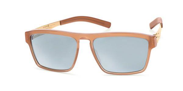 Ic! Berlin A0625 Franck C/S Terra Cotta - Teal Mirror Sunglasses