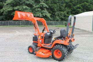 "2008 Kubota Tractor Mower Bx2230 4wd W/ 60"" Mower Deck Loader - 260 Hrs photo"