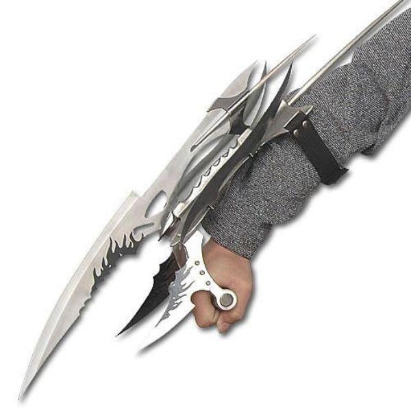 Stingray Shredder Claw - Spiked Gauntlet - Steel Fantasy Claws