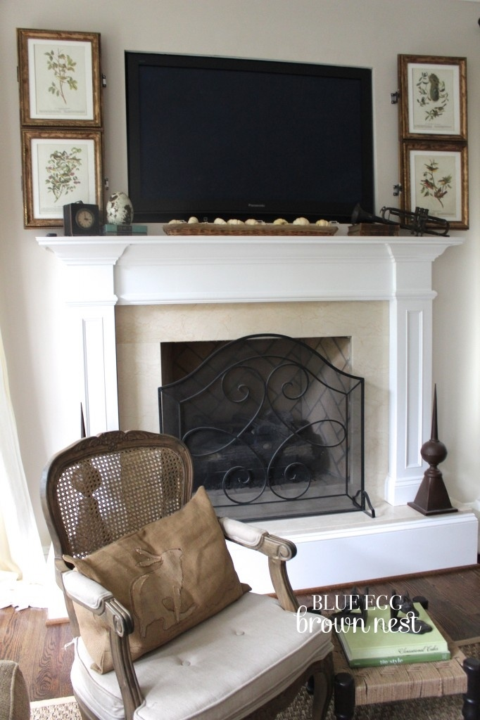 69 best mantel accessorizing images on pinterest fire Hide fireplace ideas