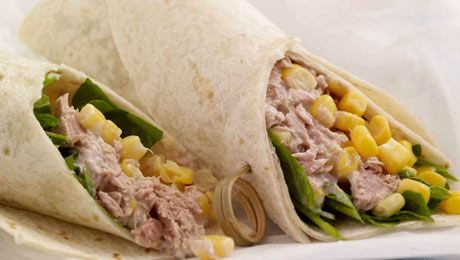 Need a healthy picnic idea? Try these Tuna and Sweet Corn Tortilla Wraps! Click for the great recipe!