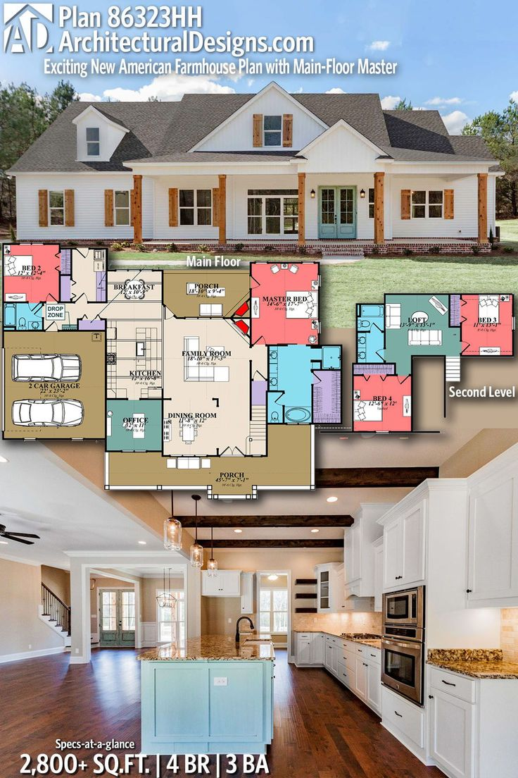 Plan 86323HH Exciting New American Farmhouse Plan with