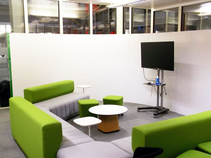 A Modular Freestanding Whiteboard Wall Which When Assembled Can Be Used To Divide Space Into More