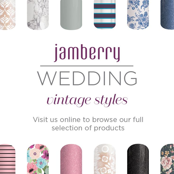 Into vintage styles for your wedding? Jamberry has the perfect nail wraps to go with your look! http://kellieparker.jamberry.com