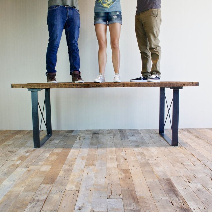 Railcar Dining Table Handmade Reclaimed Wood Dining Table   Bench set, Bench and Woods