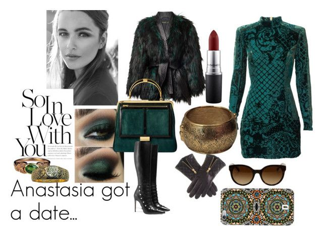 Anastasia in love by supersilent on Polyvore featuring moda, Gucci, Yves Saint Laurent, DANNIJO, Tory Burch, MAC Cosmetics, Balmain and modern