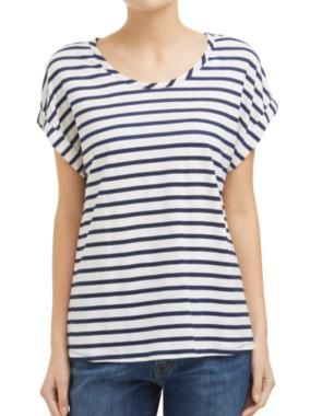 Sussan - Clothing - T-shirts & Tanks - Roll cuff stripe tee