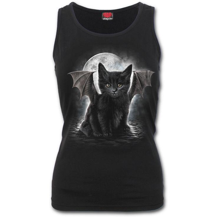 """SPIRAL DIRECT """"Bat Cat"""" top - size L"""