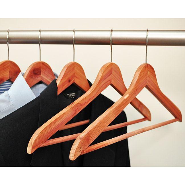 Aromatic Cedar Hangers (Pack of 24) (Aromatic Cedar Hanger 24 Pack), Brown