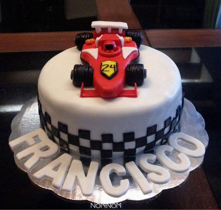 Formula  Car Birthday Cake