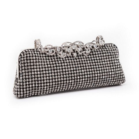 Glide across any floor for a beeline to the powder room with a stunning bridal or evening clutch from www.romanandfrench.com