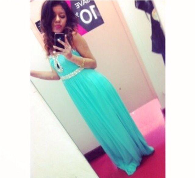 Aqua prom dress from DEBS