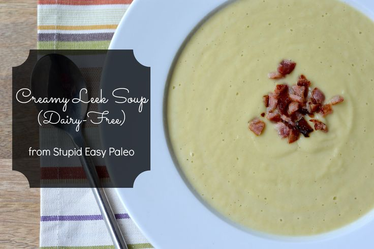 Creamy Leek Soup is dairy-free and silky smooth with a secret ingredient that you'll never guess. #paleo #dairyfree #healthy