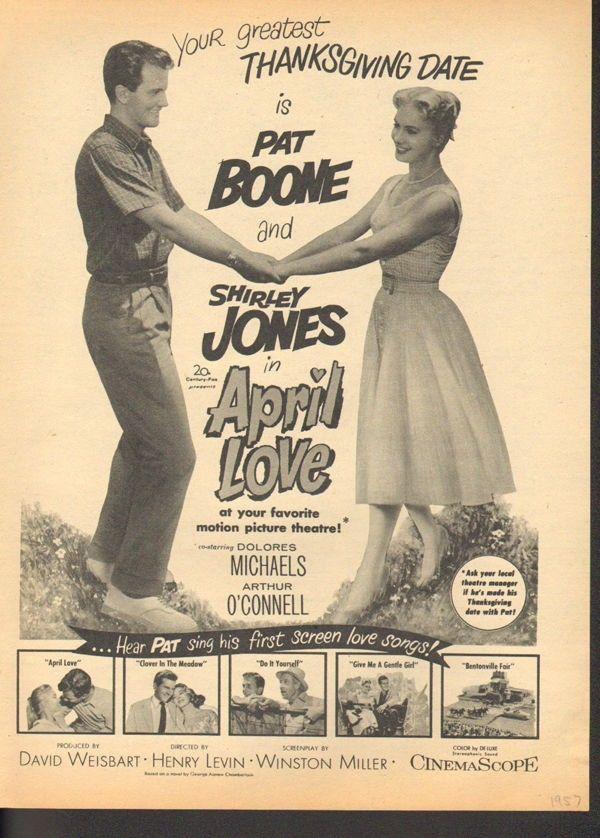 1957  ROMANCE MUSICAL PAT BOONE SHIRLEY JONES DOLORES MICHEALS FILM 17555