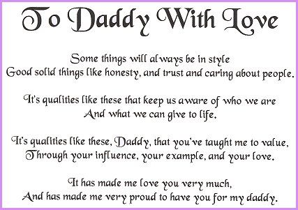 happy fathers day poem from son