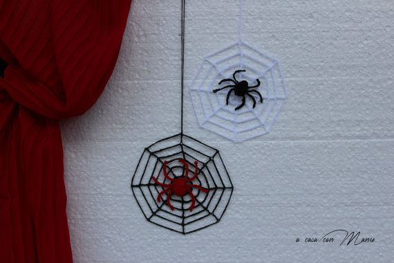 Set di 2 decorazionidi Halloween Set of 2 di Acasaconmanu su Etsy