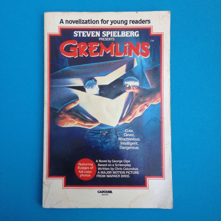 Vintage Gremlins Book A Novelisation for Young Readers Carousel Mogwai Billy Peltzer 80s Corgi 1984 Steven Spielberg Movies 1980s Film Gizmo by TheFidorium on Etsy