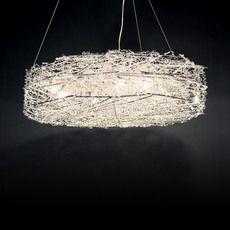Nest Aluminum Wire Bird S Chandelier