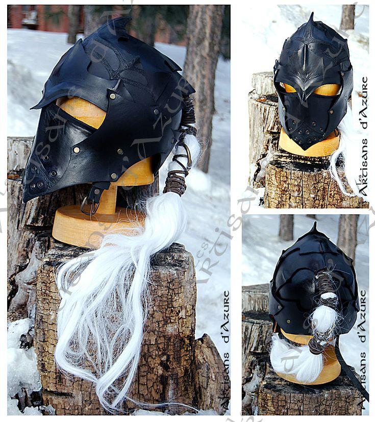 Drow helmet - Casque d'elfe noir LARP by ArtisansdAzure.deviantart.com on @deviantART