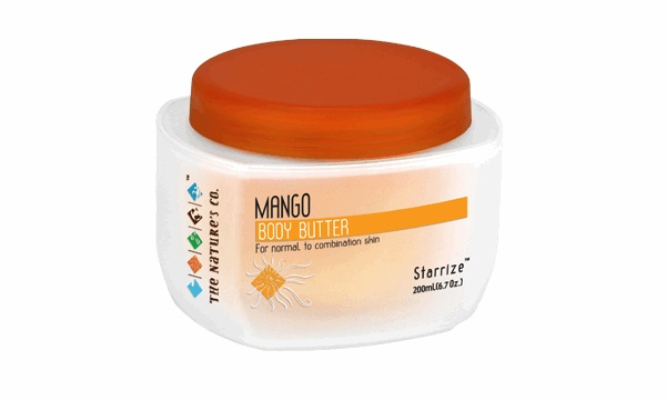 The MANGO BODY - BUTTER is rich in vitamins,  anti-oxidants and emollient properties. This body butter also prevents sun damage and gives you soft and nourished skin.  http://www.thenaturesco.com/products/Mango-Body---Butter.aspx?prodid=204=12