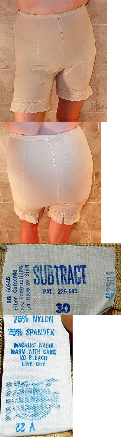 Women Shapewear: Subtract Vintage Beige Long Leg High Waist Open Gusset Panty Girdle 30 L Evc -> BUY IT NOW ONLY: $37.87 on eBay!