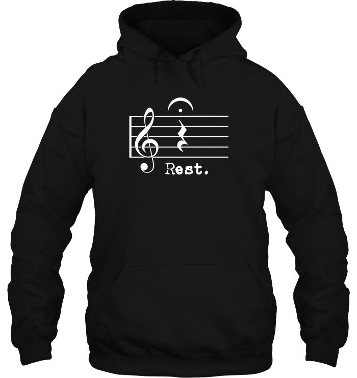 Funny Music Note Quarter Rest Fermata Musician T Shirt Png Music Humor Music Notes Hoodie Shirt