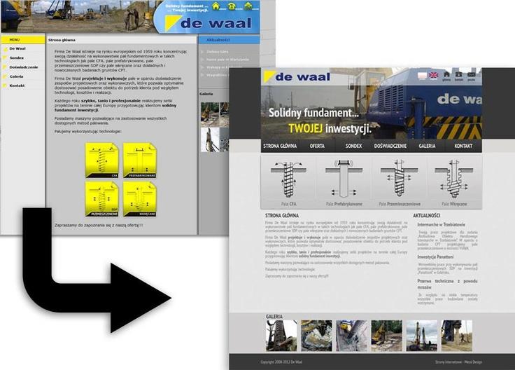 Firma DeWaal jest firmą, z którą nawiązaliśmy udaną współpracę wiele lat temu - pracujemy dla nich do dziś ;-)  Strona internetowa DeWaal była jedną z naszych pierwszych realizacji - teraz dla naszych przyjaciół i partnerów biznesowych zaprojektowaliśmy nowy layout, który nadał stronie świeżości i poprawił wyniki odwiedzalności!:) Oto dlaczego warto odświeżać strony internetowe:)!!!