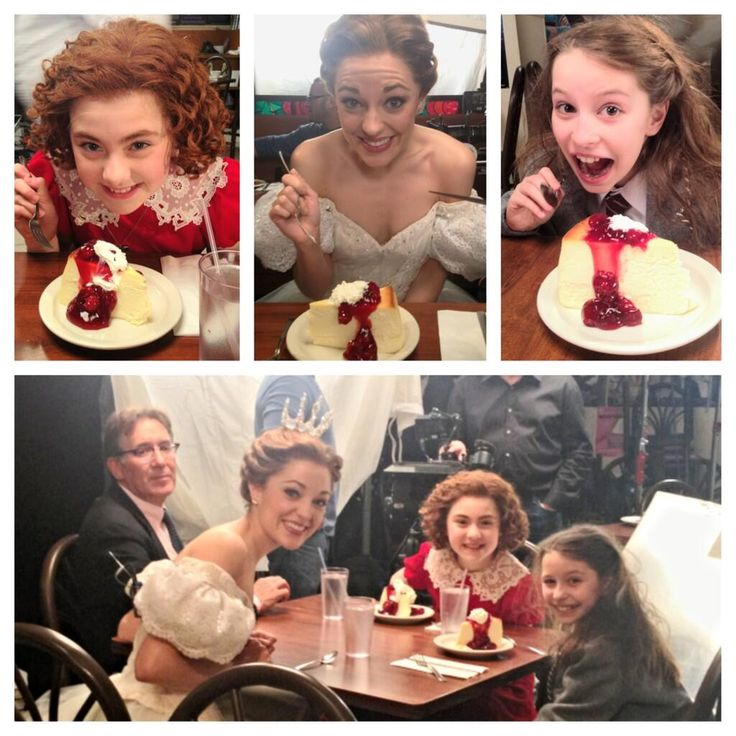 Cheesecake for Annie, Cinderella and Matilda! Awwe, and three of my favorite actresses, too!