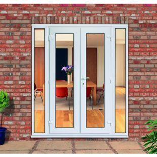 Wickes Upvc French Doors 7ft with 2 Demi Panels 300mm | Wickes.co.uk