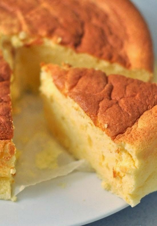 Cotton Soft Japanese Cheesecake -- This is a very light, melt in your mouth cake,,