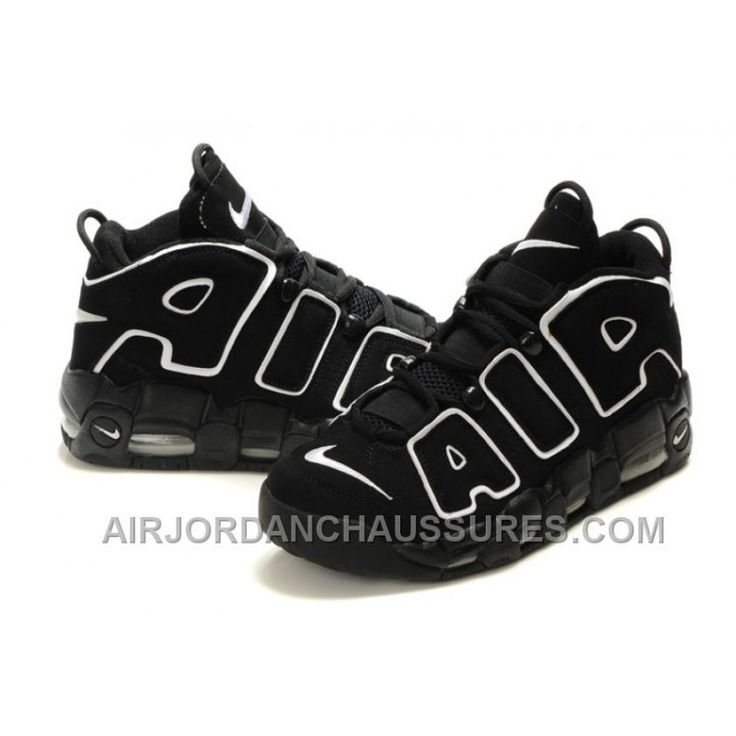 Nike Air More Uptempo Black/Black-White For Sale Lastest XWkhd