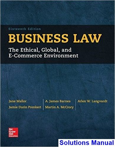 40 best solution manual download images on pinterest action business law the ethical global and e commerce environment 16th edition mallor solutions manual fandeluxe Gallery