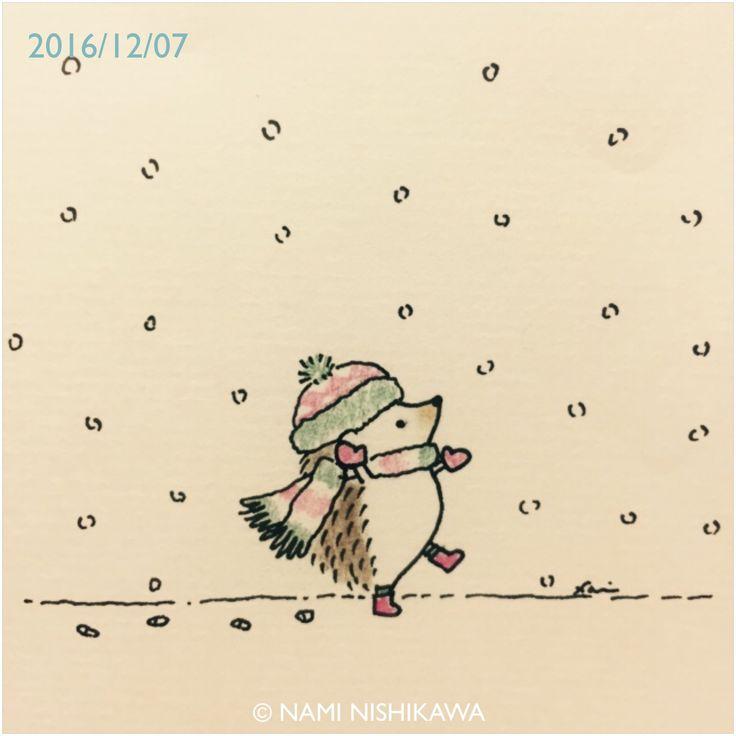 Christmas, hedgehog, snow
