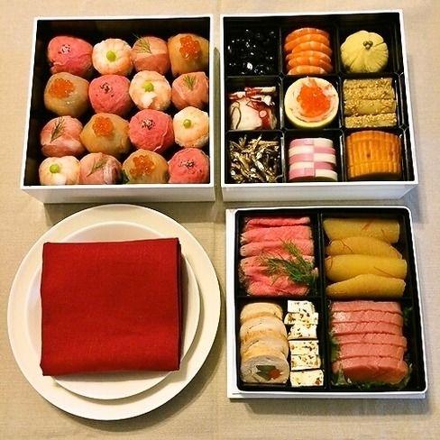おせち Japanese bento for new years