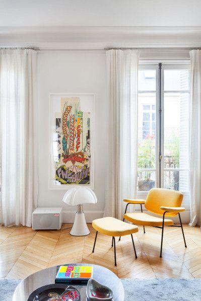 Un appartement parisien articles et rideaux for Interieur appartement parisien