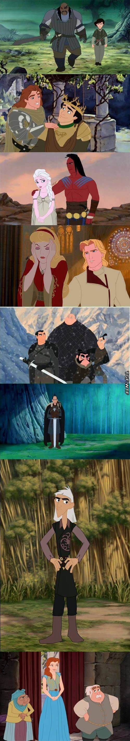 disney characters as got characters
