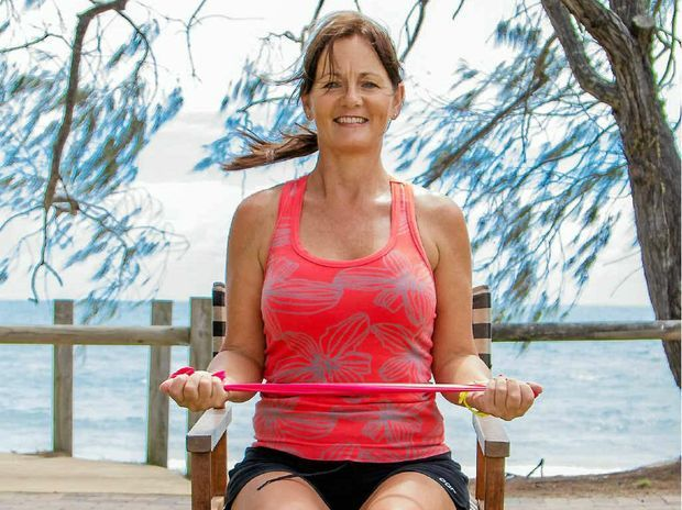 Improve Your Position In Life: Leanne Shorter demonstrates this week's exercise on how to improve your posture. #exercise #workout #posture #health #resistanceband