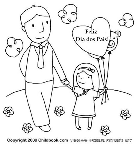 Desenhos Para Colorir Dia Dos Pais Com Imagens Dia Do Pai Dia