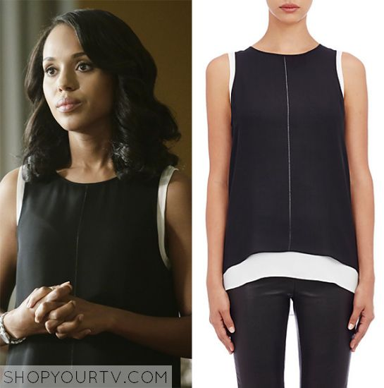 Scandal: Season 5 Episode 3 Olivia Pope's Colorblock Tank Top