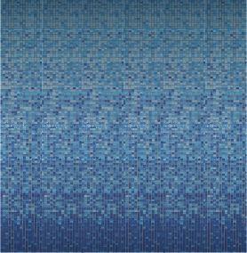 MOSAICOS DEGRADE: DEGRADE DECO VARIATION CELESTE 33x33 cm Caja: 8 piezas