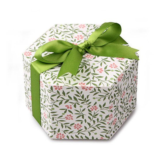 5 x Gift boxes with lids / Green Stem gift box (Small size) / paper box / chocolate box / cookie box / gift boxes / craft box